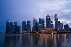 Singapore financial district skyline Stock Photography