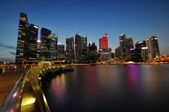 Singapore Financial District Skyline royalty free stock images