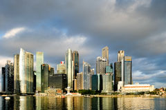 Singapore finansiell mitt Royaltyfri Fotografi