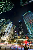 Singapore finansiella område Royaltyfri Fotografi