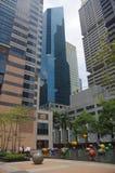 Singapore finansiellt område Fotografering för Bildbyråer