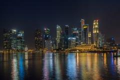Singapore finansiellt område Arkivfoto