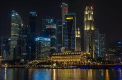 Singapore finansiellt område Royaltyfria Foton