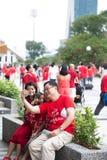 Singapore firar den nationella dagen SG50 Fotografering för Bildbyråer