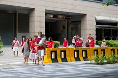 Singapore firar den nationella dagen SG50 Royaltyfria Foton
