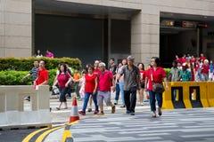 Singapore firar den nationella dagen SG50 Arkivfoton