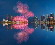 Singapore firework National Day 2015 SG50 Royalty Free Stock Images