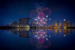 Free Singapore Fireworks Stock Photos - 55755653