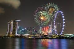 Singapore fireworks celebration Stock Photography