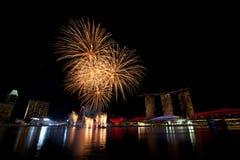 Singapore Fireworks Royalty Free Stock Image