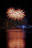 Singapore Fireworks Stock Photography