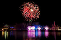 Singapore Fireworks Royalty Free Stock Images