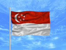 Singapore Flag 1 Royalty Free Stock Images