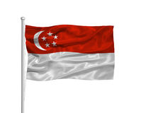Singapore Flag 2 Royalty Free Stock Image