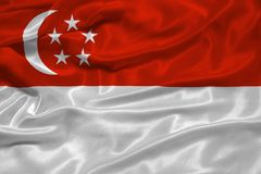 Singapore Flag 3 Royalty Free Stock Image