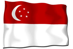 Singapore Flag Stock Photography