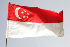 Singapore flag. The national flag of Singapore Royalty Free Stock Photos
