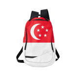 Singapore flag backpack isolated on white Stock Images