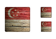 Singapore flag Buttons Royalty Free Stock Images