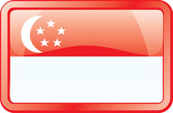 Singapore Flag Icon Stock Photo