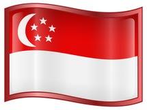 Singapore Flag Icon Stock Photo