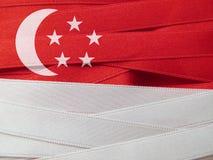 Singapore flagga eller baner Royaltyfri Foto