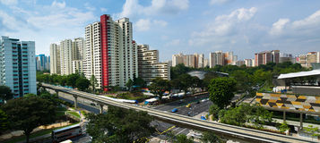 Singapore HDB flats and LRT track Royalty Free Stock Images