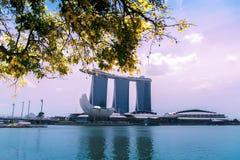 Singapore flod. Arkivfoto