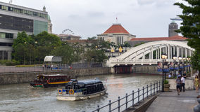 Singapore flod Arkivbilder