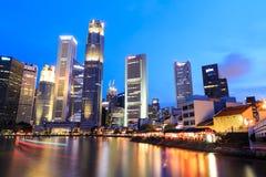 Singapore flodnatt Royaltyfria Foton