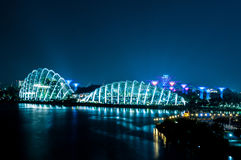 2017-07-15 Singapore Flower Dome nite view Royalty Free Stock Images