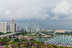 Singapore Flyer. Formula1 track. View From SuperTree Royalty Free Stock Images