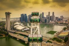 Singapore Flyer From Above stock photos