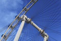 Singapore Flyer April 01, 2012: Close up of the Singapore flyer. Stock Images
