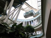 Singapore Flyer capsule. . Modern high-rise buildings. Architecture and art in modern civilization. royalty free stock images