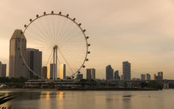 Singapore flyer in evening Stock Photo
