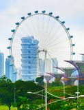 Singapore Flyer , ferries wheel royalty free stock images