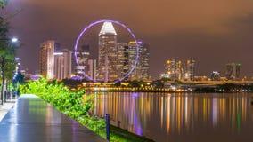 Singapore flyer ferriswheel. Royalty Free Stock Images