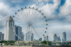 Singapore Flyer the giant ferris wheel in Singapore Royalty Free Stock Images