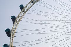 Singapore flyer. Isolate on white background Royalty Free Stock Images