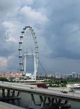 Singapore Flyer and Jubilee Bridge Stock Images