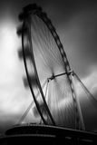 The Singapore Flyer, long exposure, monochrome Stock Photos