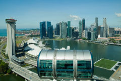 Singapore Flyer and Marina Bay Stock Photo