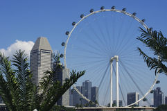The Singapore Flyer and modern architecture Stock Image