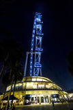Singapore Flyer at night Stock Images