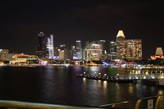 Singapore Flyer at night Royalty Free Stock Photography