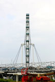 Singapore flyer on rain. Royalty Free Stock Images