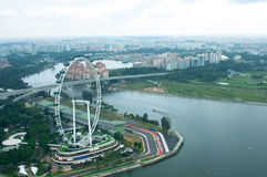 Singapore Flyer and Residential Area Stock Images
