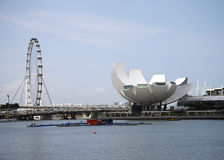 Singapore Flyer and Science and Art museum Royalty Free Stock Image