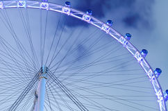 Singapore flyer with sky background at night Royalty Free Stock Photos